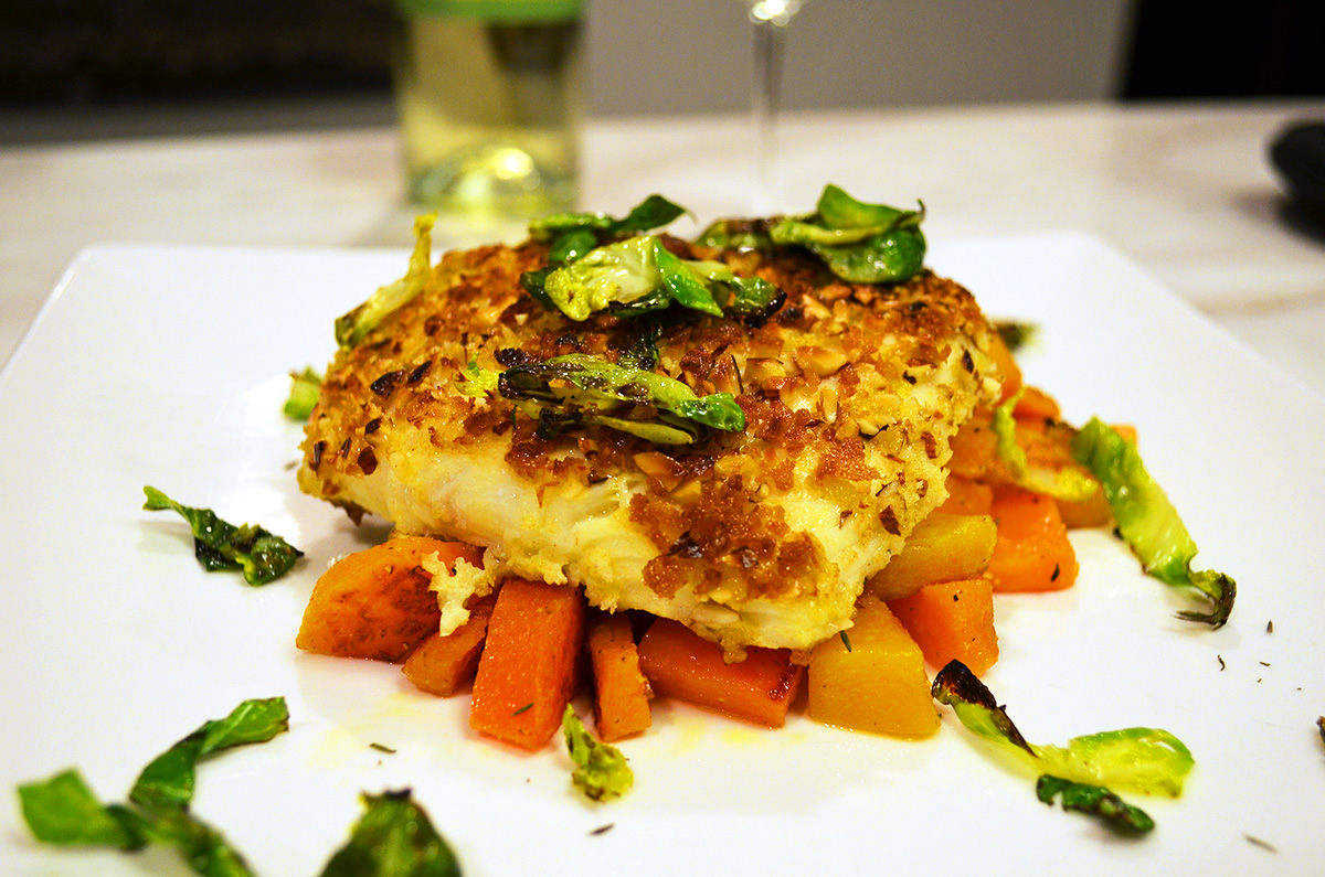 Almond-Crusted Halibut - The Juice | Club W