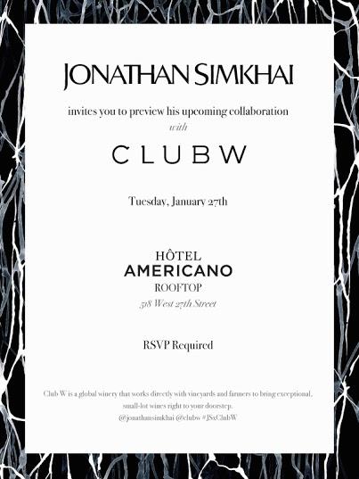 Fashion S Night Out Jonathan Simkhai X Club W Launch