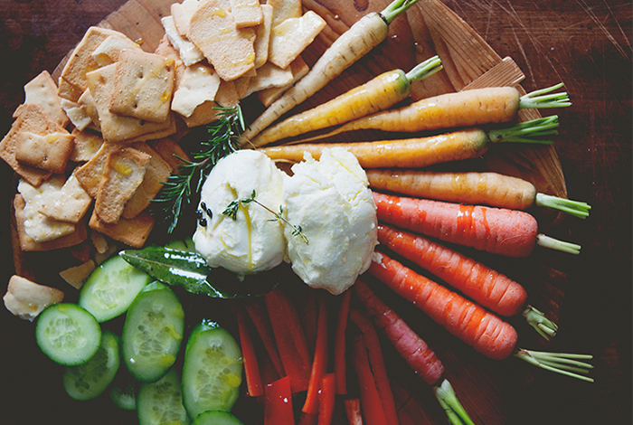 Marinated Goat Cheese & Crudites