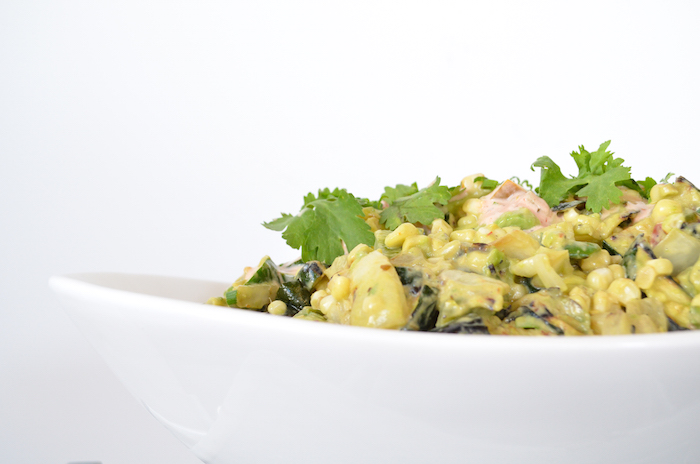 Grilled Corn & Avocado Salad