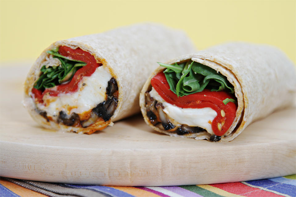 Portobello Mushroom Wraps The Juice Club W