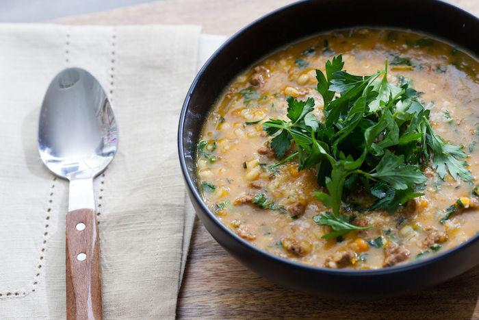 Lamb Sausage & Butternut Squash Soup