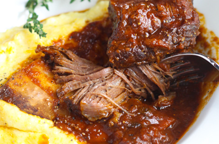 Braised Short Ribs with Creamy Polenta