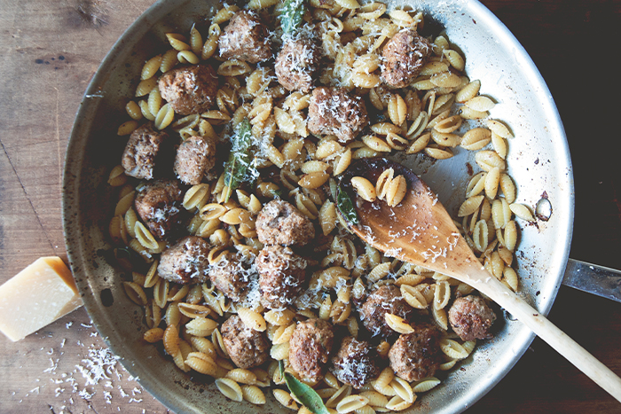 Cavatelli with Fennel Sausage with Brown Butter & Crispy Sage