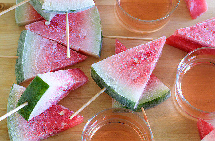 Drunken Watermelon Popsicles