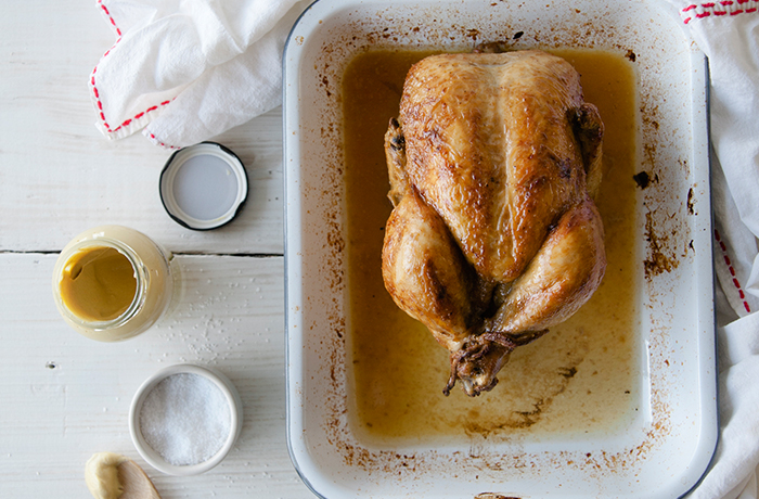 Dijon Roast Chicken