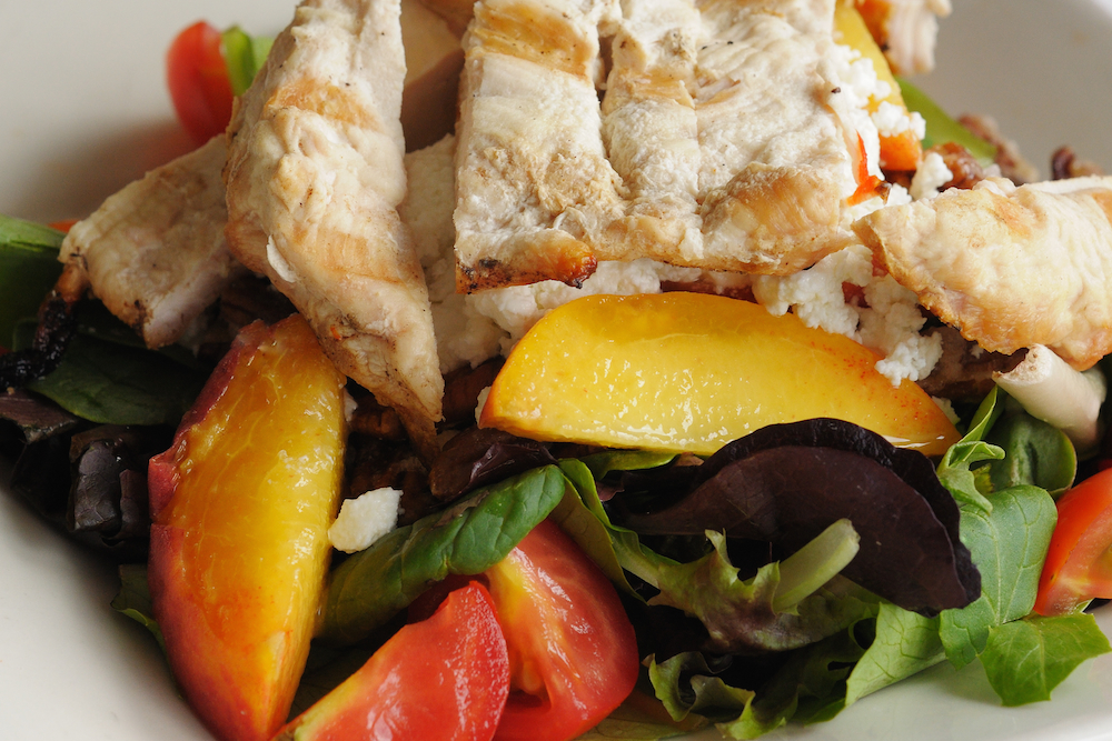 Grilled Peach & Chicken Summer Salad