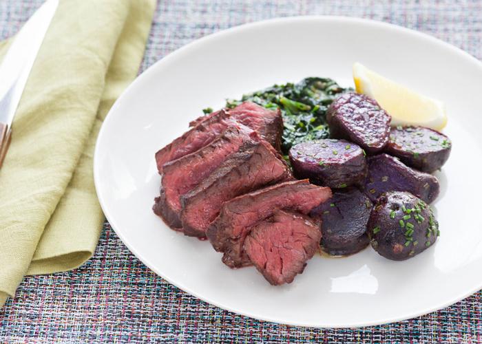 "Hanger Steak With ""Creamed"" Spinach"