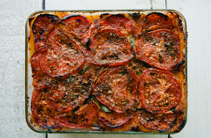 Roasted Tomato Paleo Vegan Pizza