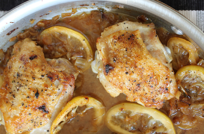 Pan-Roasted Chicken Thighs with Browned Butter-Lemon Pan Sauce