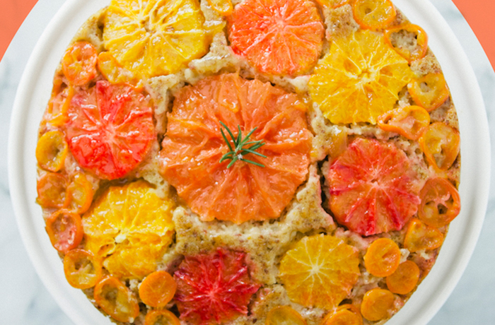 Citrus Almond Olive Oil Upside Down Cake