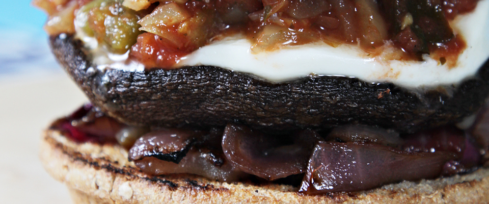 Wine Pairing Recipe: Portobello Burgers with Salsa