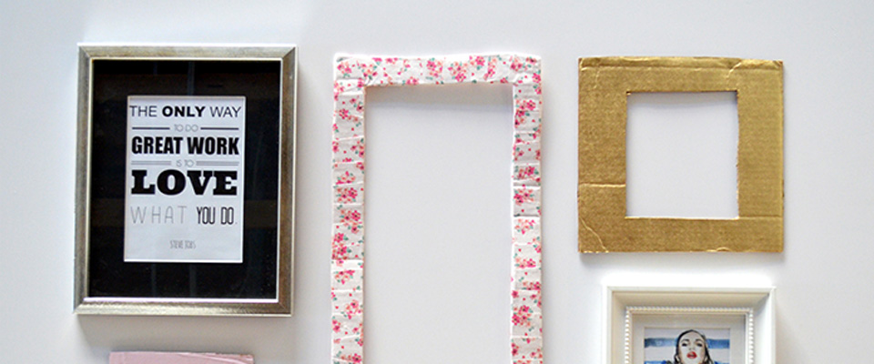 DIY: Picture Frames From Recycled Club W Boxes