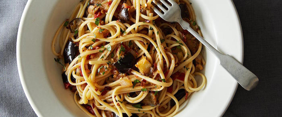 Wine Pairing Recipe: Spicy Eggplant Pasta