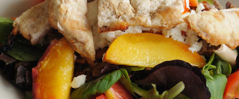 Wine Pairing Recipe: Grilled Peach Salad