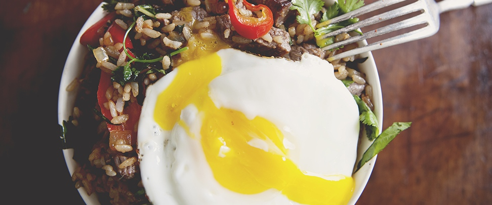 Wine Pairing Recipe: Steak & Egg Fried Rice Bowl