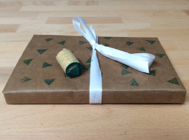 Wine Workshop: How to Make Personalized Wrapping Paper